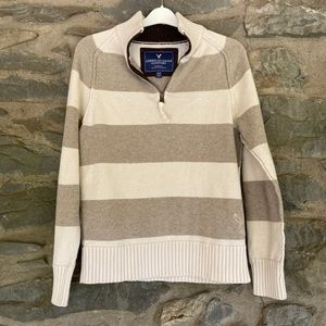 American Eagle Medium Beige and Tan Sweater